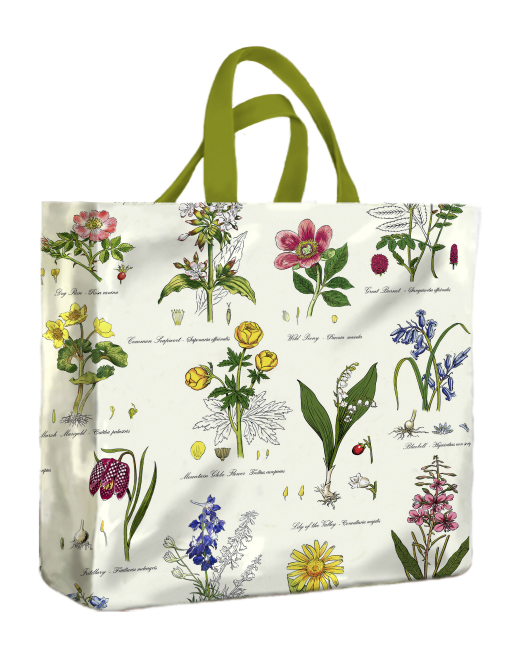 Botanic Garden PVC Medium Gusset Bag