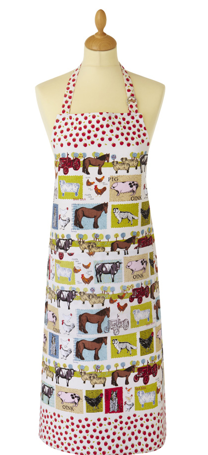 Down On The Farm Cotton Apron