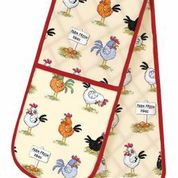 Chickens Cotton Double Oven Gloves
