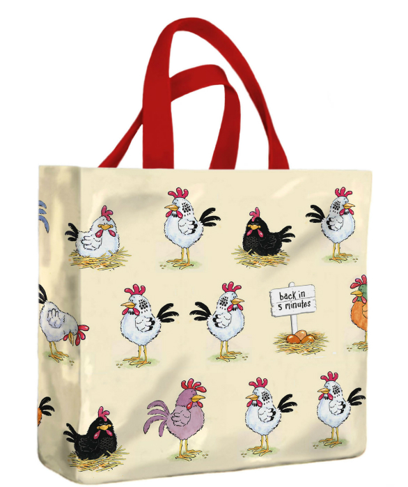 Chickens PVC Mini Gusset Bag by McCaw Allan