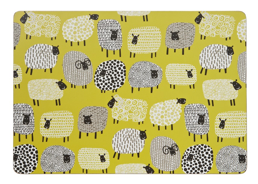 Dotty Sheep Large Placemats Pack of 4