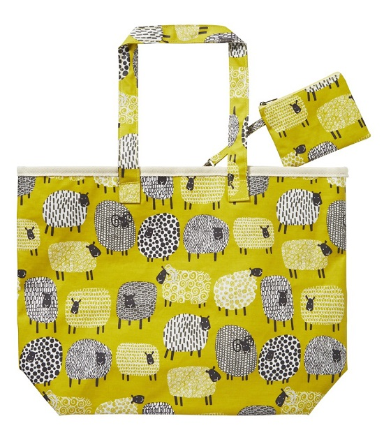 Dotty Sheep Oil Cloth Bag and Purse