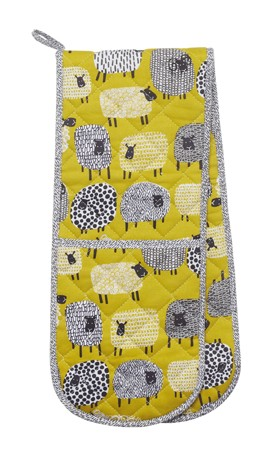 Dotty Sheep Double Oven Glove