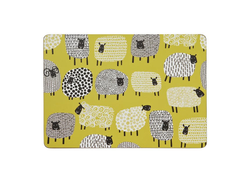 Dotty Sheep Placemats Pack of 4