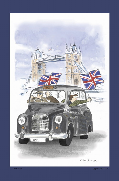 Flying The Flag Linen Union Tea Towel
