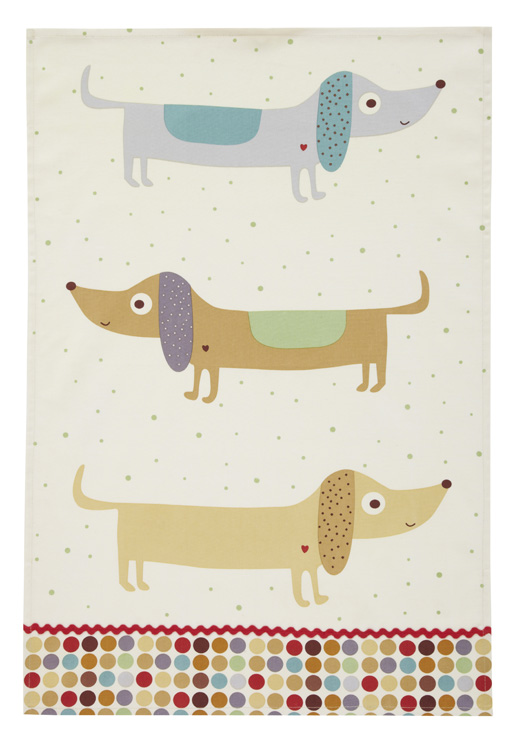 Hot Dogs Styled Cotton Tea Towel