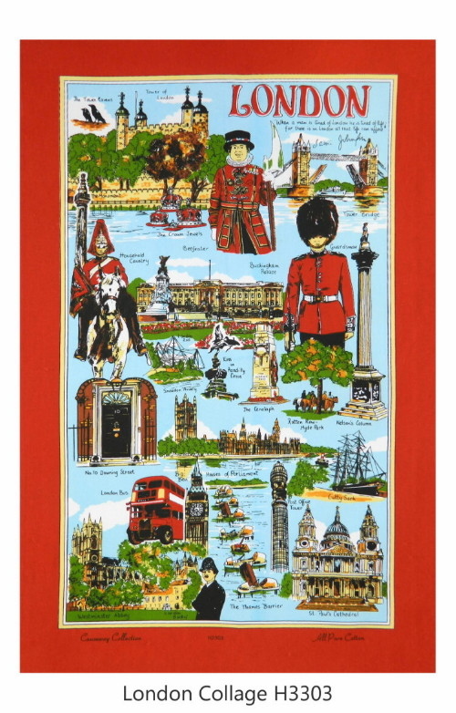 London Cotton Souvenir Tea Towel