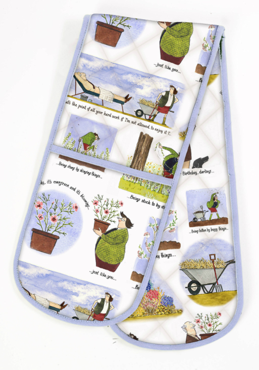 The Pleasure of Gardening Cotton Double Oven Glove