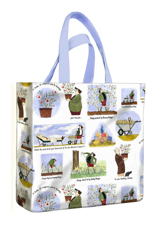 The Pleasure of Gardening PVC Mini Gusset Bag