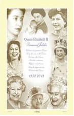 Queen Elizabeth II Royal Jubilee Cotton Tea Towel