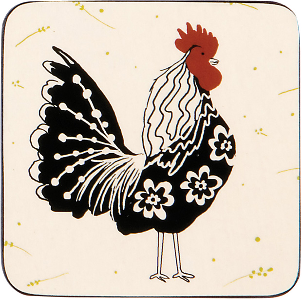 Rooster Coasters - Set of 4