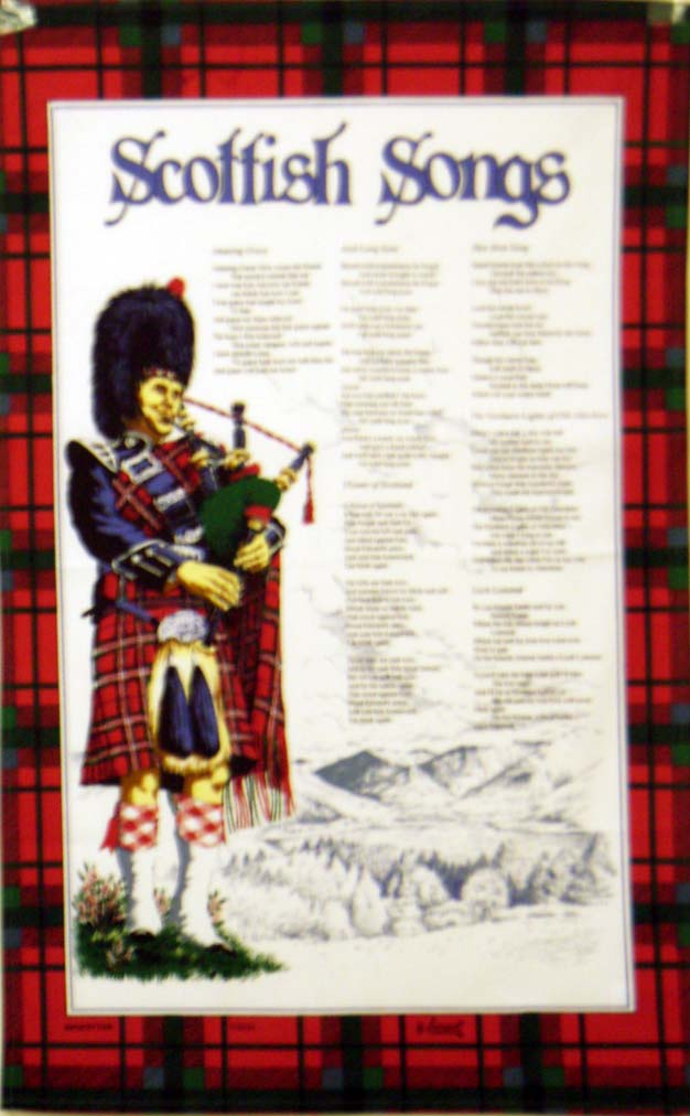 Scotland Songs Cotton Tea Towel