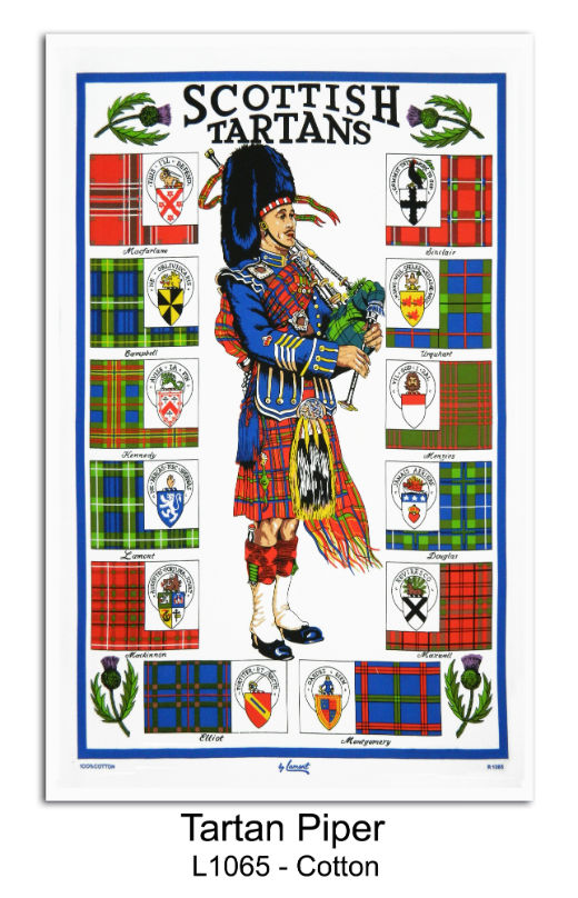 Scottish Tartans Cotton Tea Towel