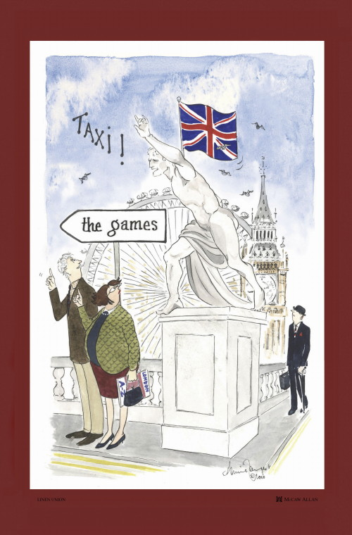 Westminster Bridge Linen Union Tea Towel