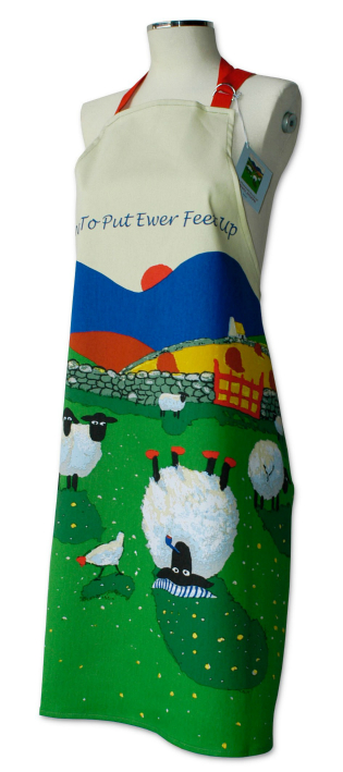 Thomas Joseph Cotton Apron - Time To Put Your Ewer Feet Up