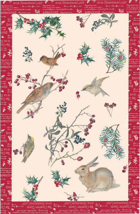 Winter Warmth Linen Union Tea Towel