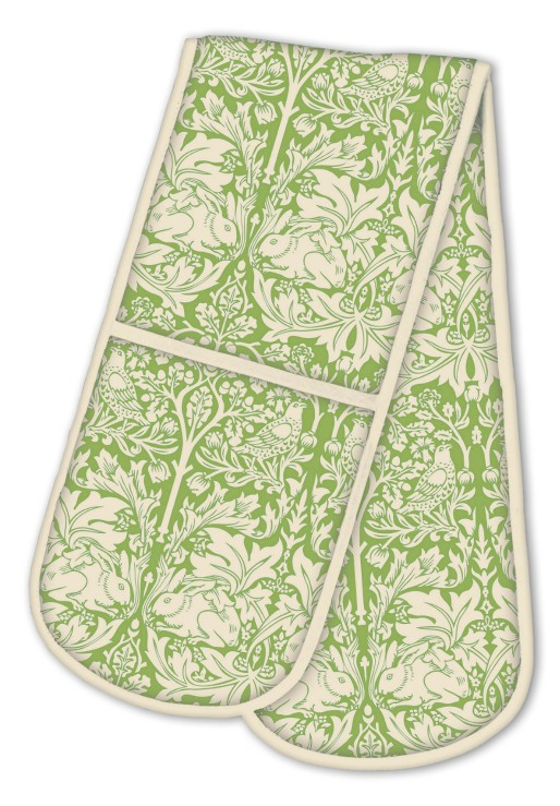 Brother Rabbit Double Oven Glove - Green