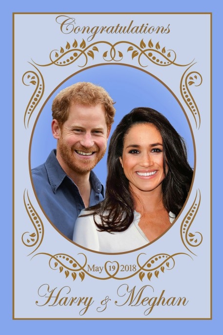 Congratulations Harry and Meghan Souvenir Tea Towel