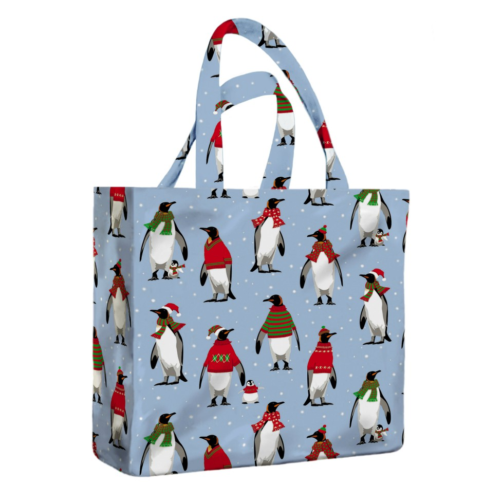 Cosy Penguins PVC Mini Gusset Bag