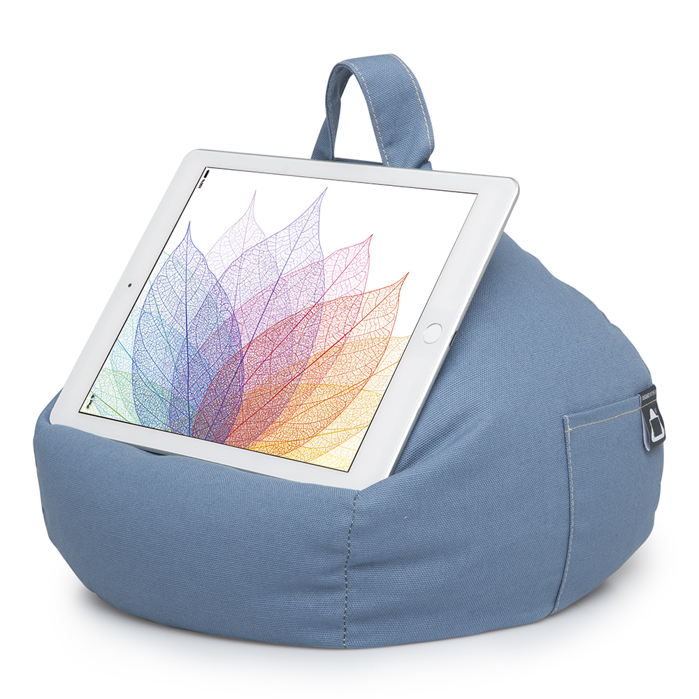 Denim Blue iPad and Tablet Bean Bag Stand