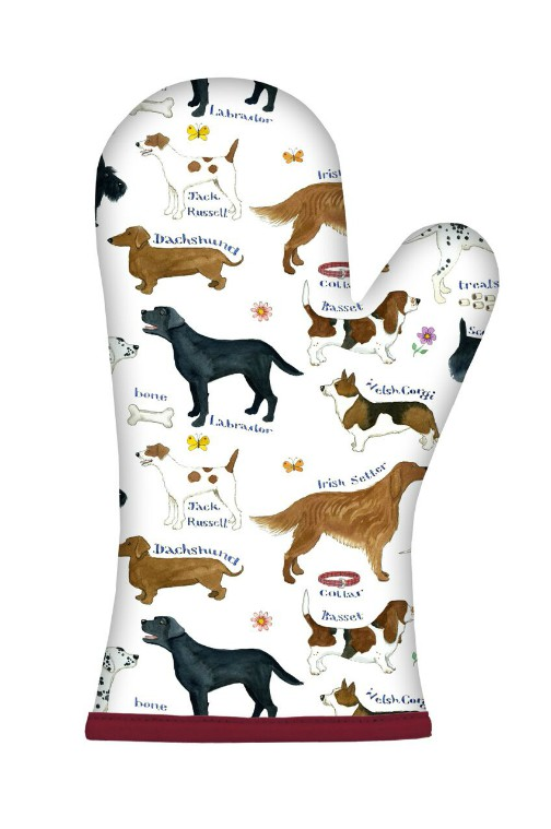 Dog Breeds Cotton Oven Gauntlet