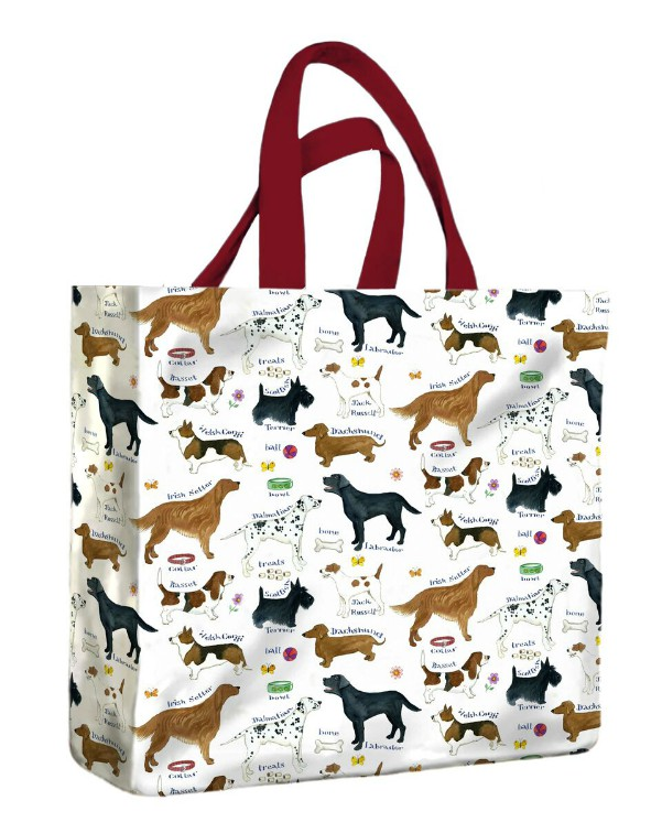 Dog Breeds PVC Medium Gusset Bag by McCaw Allan