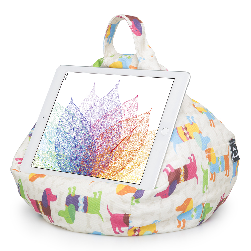 Dog Design iPad and Tablet Bean Bag Stand
