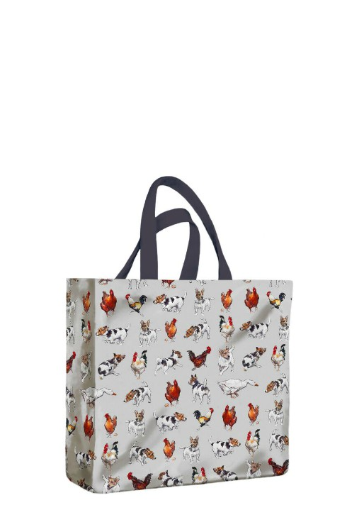 Farmyard Frolics PVC Medium Gusset Bag