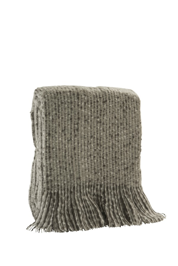 Faux Mohair Grey Acrylic Throw 400g