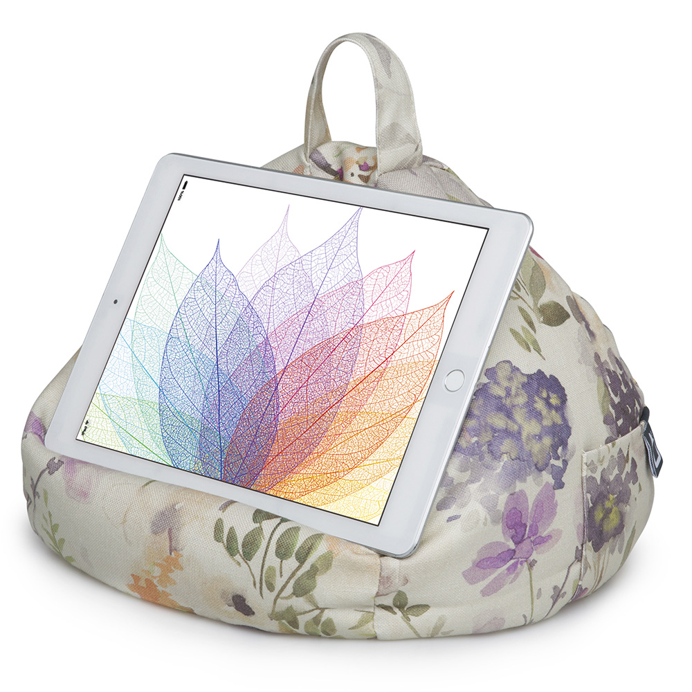 Floral Design iPad and Tablet Bean Bag Stand