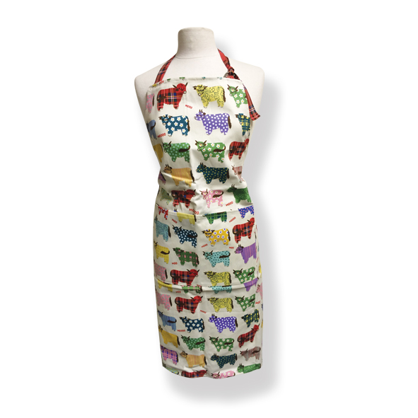 Highland Cow Cotton Apron
