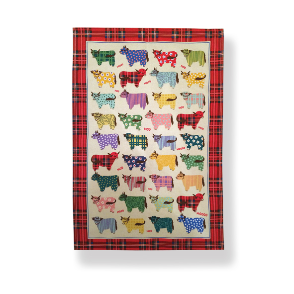 Highland Cow Cotton Tea Towel