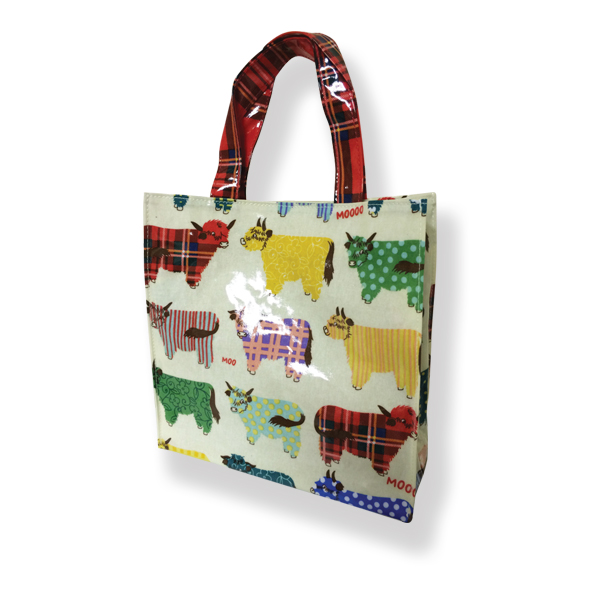Highland Cow PVC Small Shopping Bag
