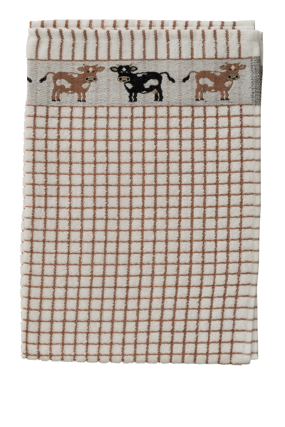 Poli-Dri Jacquard Tea Towel - Cows