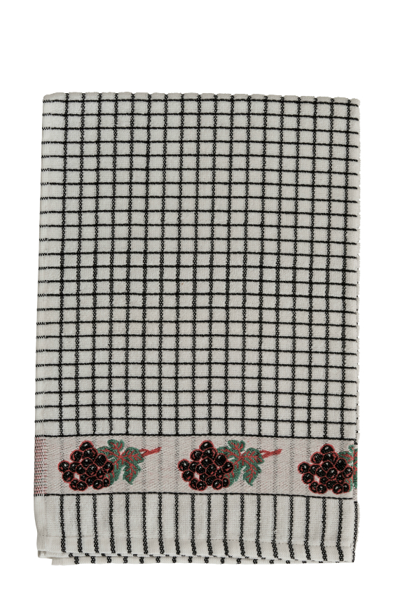 Lamont Poli-Dri Jacquard Tea Towel - Black Grapes