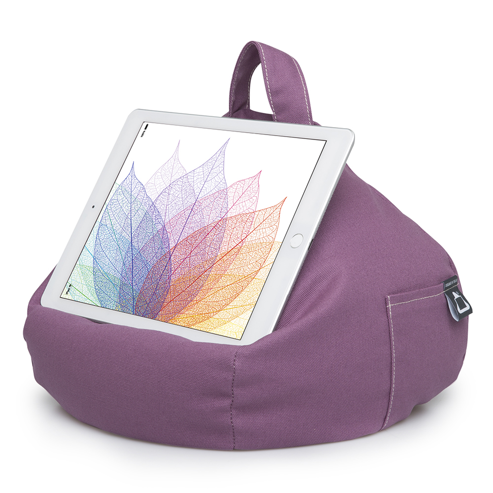 Purple iPad and Tablet Bean Bag Stand