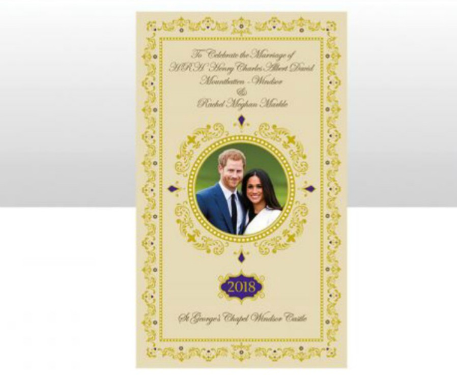 Diamond Wedding Card From Queen Uk