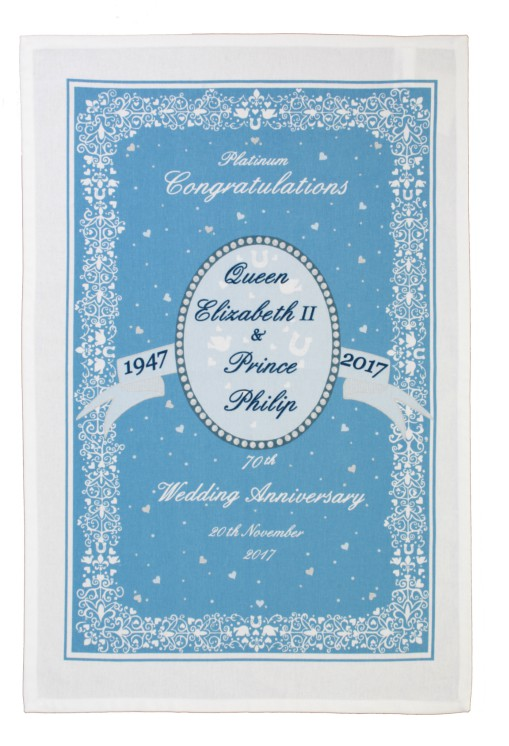 Royal Wedding Anniversary Tea Towel 1947 - 2017